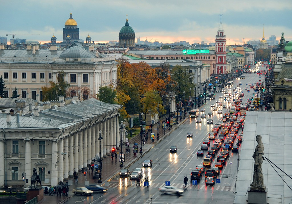 Nevsky Prospekt - die Hauptstrasse
