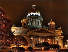 St. Isaac's Cathedral at Night