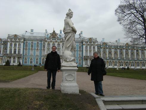 Vor dem Katharinenpalast