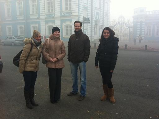 Mit Anja am Katharinenpalast