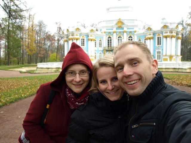 Mit Ekaterina im   Katharinenpark