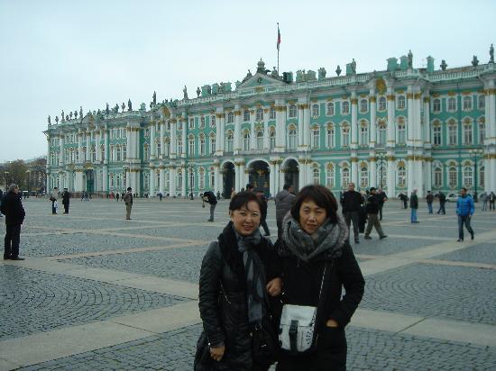 Vor dem Winterpalast der Eremitage