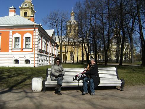 In der Peter-Pauls-Festung mit Olga