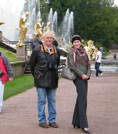 Mit Anja in   Peterhof