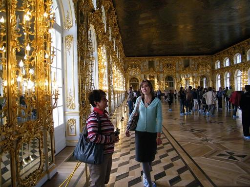 im Katharinenpalast mit Anja