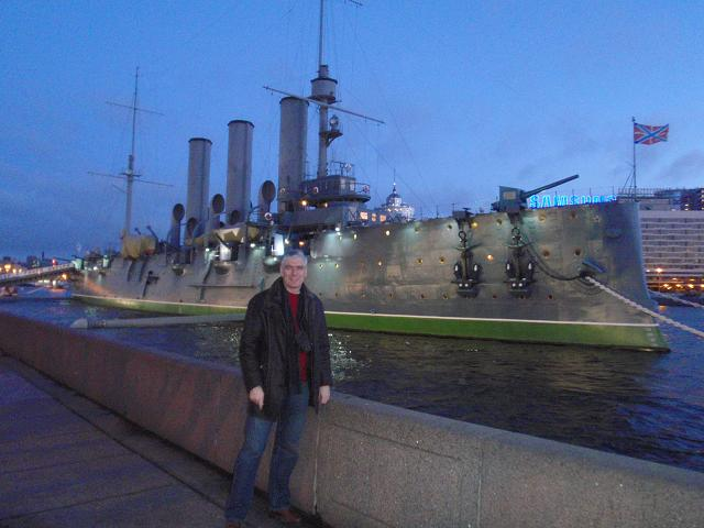 Tim at the cruiser Aurora