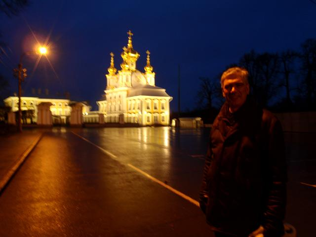 Tim at the Palace Church in Peterhof